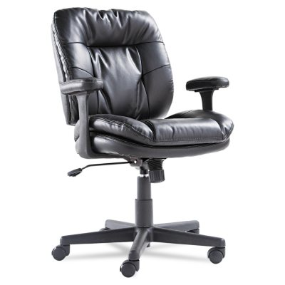 OIF Swivel/Tilt Leather Task Chair Black  sc 1 st  Samu0027s Club & Save on Office Chairs - Samu0027s Club