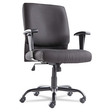 oif big & tall mid-back swivel/tilt chair, black - sam's club