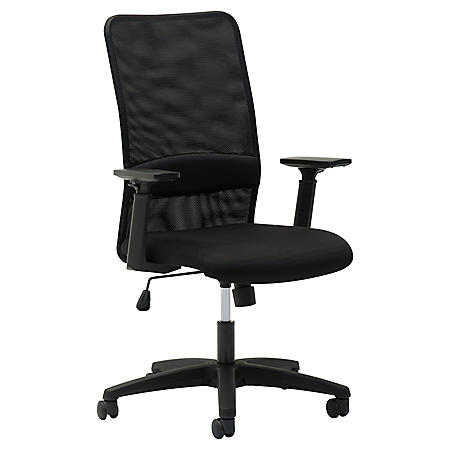 OIF Mesh High-Back Chair, Supports up to 225 lbs. (Black)