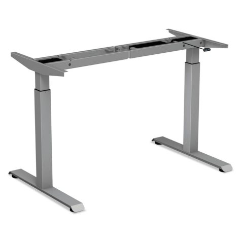 Alera 2-Stage Electric Adjustable Table Base, Gray