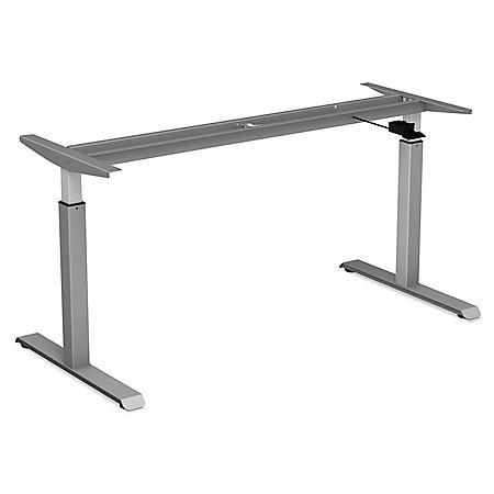 Alera Pneumatic Height-Adjustable Table Base, Gray