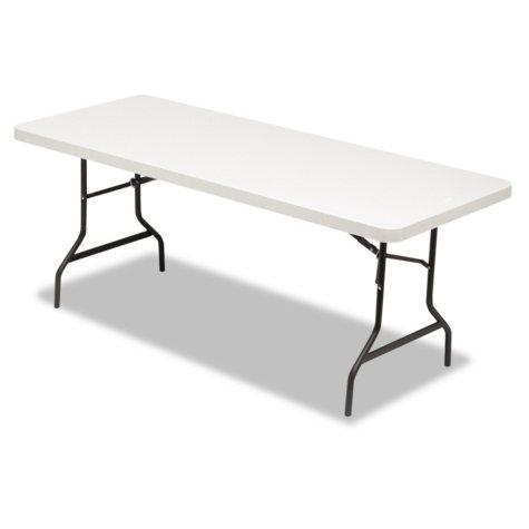 Alera 6' Resin Folding Table, Platinum