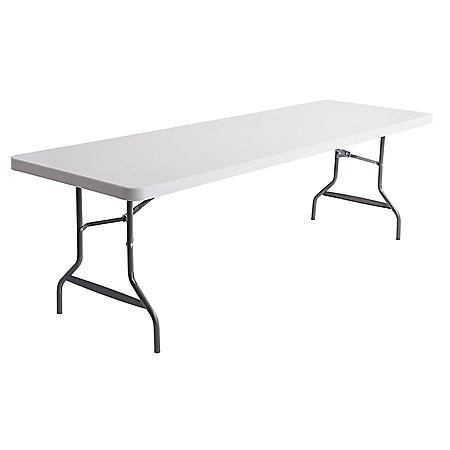 Alera 8' Resin Folding Table, Platinum