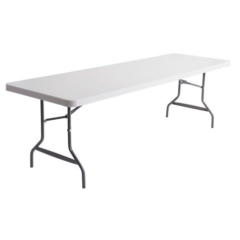 Alera 8' Resin Folding Table, Platinum