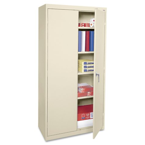 "Alera 72"" Economy Assembled Storage Cabinet, Putty"
