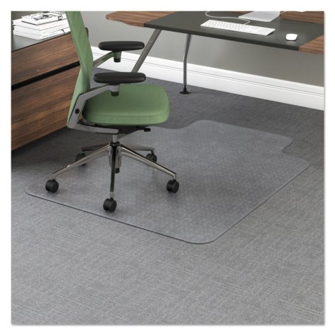 """Office Impressions Chair Mat - 12"""" Lip - Clear"""