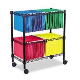 Alera 26 2 Tier Rolling File Cart