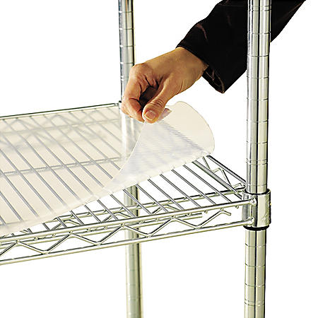 "Alera 48"" x 18"" Shelf Liners for Wire Shelving Units - Clear (4-pack)"