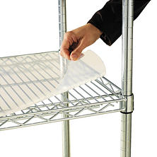 "Alera 48"" x 24"" Shelf Liners for Wire Shelving Units, Clear - 4 pack"