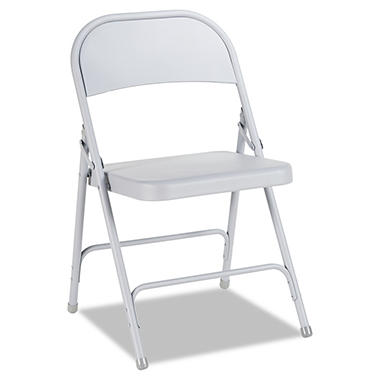 Alera Steel Folding Chair, Select Color -  4 pack