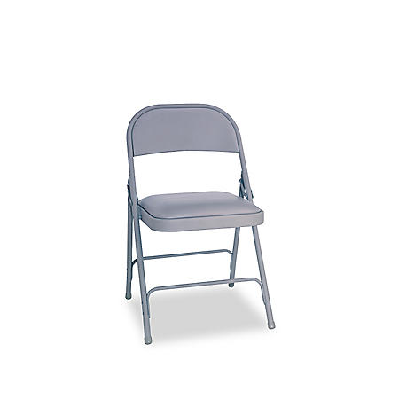 Alera Steel Folding Chair with Padded Seat, Select Color - 4 Pack