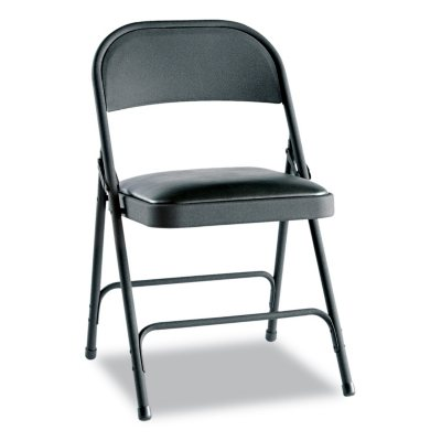 Alera Steel Folding Chair With Padded Seat, Select Color   4 Pack