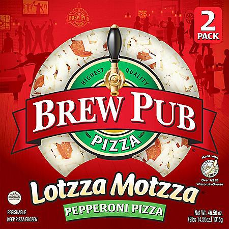 Brew Pub Lotzza Motzza Pepperoni Pizza, Frozen (2 pk.)