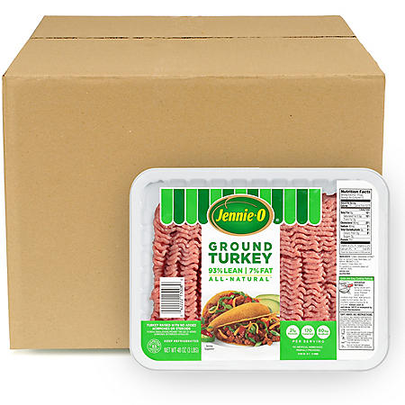 Jennie-O Lean Ground Turkey, Bulk Wholesale Case (2.5 lb. trays, 20 lb. total)