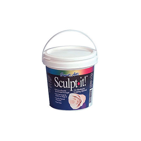 Sargent Art Sculpt it Air-Dry Sculpting Material, 10 Pounds, White