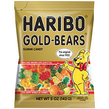 Haribo Gold-Bears Gummi Candy (5 oz. bag)