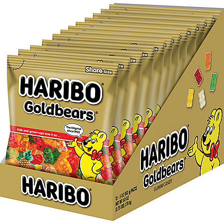 Haribo Gold Bears Gummi Bear Candy (5oz., 12pk.)