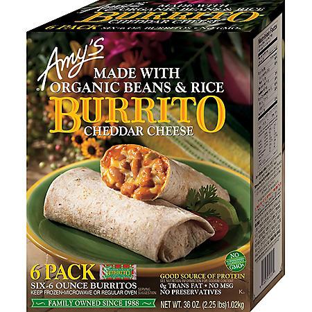 Amy's Kitchen Bean & Rice Burrito (36 oz., 6 pk.)