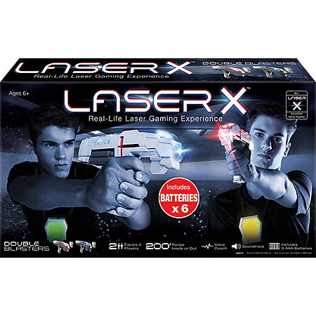 Laser X Laser Gaming Blasters with Batteries, 2 Pack