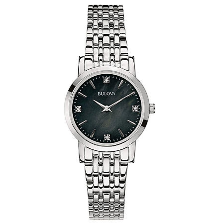 Bulova Women's Diamond Accent Stainless Steel Bracelet Watch