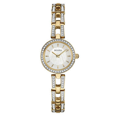 Bulova Women's 98L213 Gold-Tone Stainless-Steel Quartz Watch