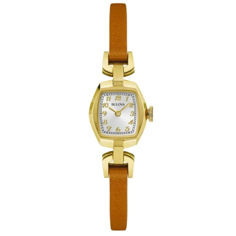 Bulova Women's 97L153 Classic Collection Brown Leather Strap Watch