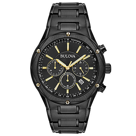 Bulova Men's Black IP Chronograph Watch
