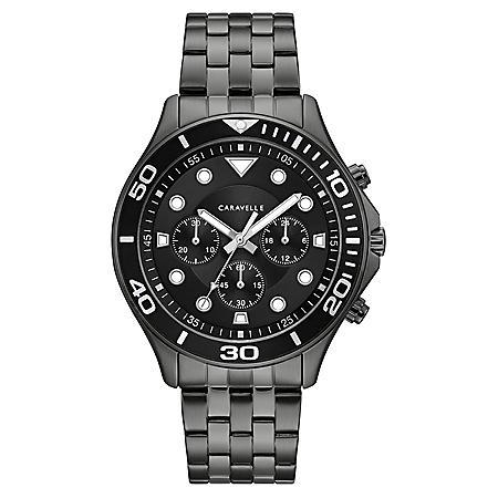 Caravelle Men's Chronograph Gunmetal IP Stainless Steel Watch
