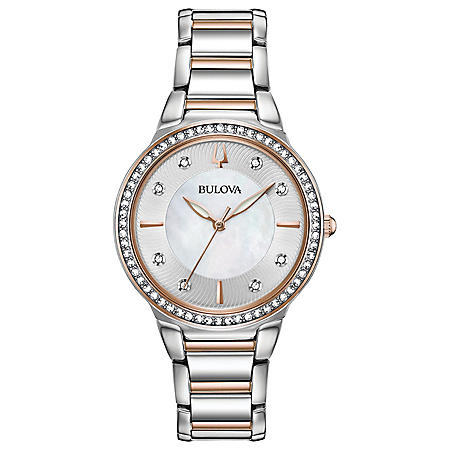 Bulova Women's Two-Tone Crystal Watch
