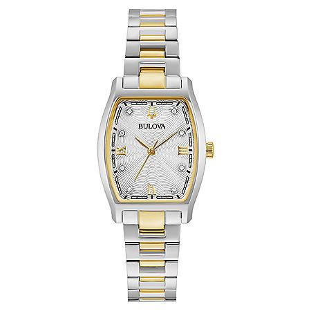 Bulova Women's Two-Tone Diamond Dial Watch