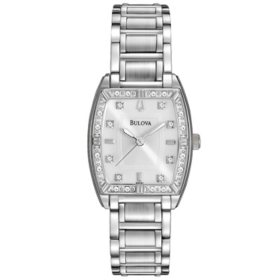 Bulova Women's 96R162 HIGHBRIDGE Diamond Bezel Watch