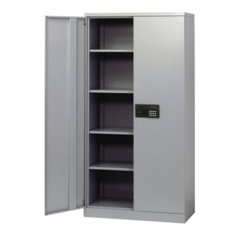 Sandusky Steel Keyless Electronic-Coded Cabinet