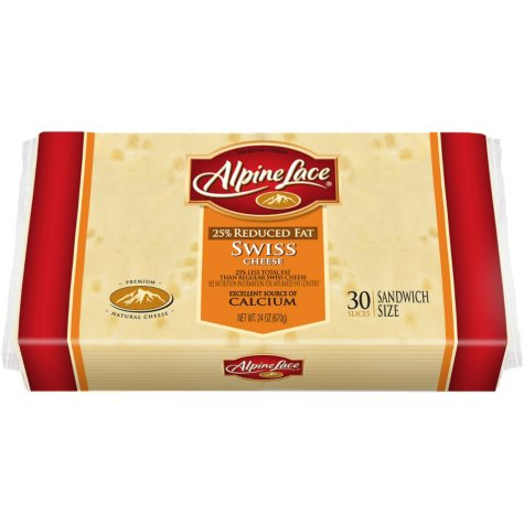 Alpine Lace® Reduced Fat Sliced Swiss - 24oz