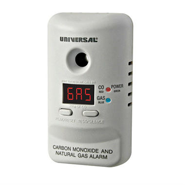 M Series Plug-In Carbon Monoxide and Natural Gas Alarm with 9-Volt Battery Backup