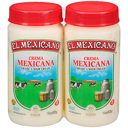 El Mexicano Crema Mexicana Sour Cream (15 oz., 2 pk.)
