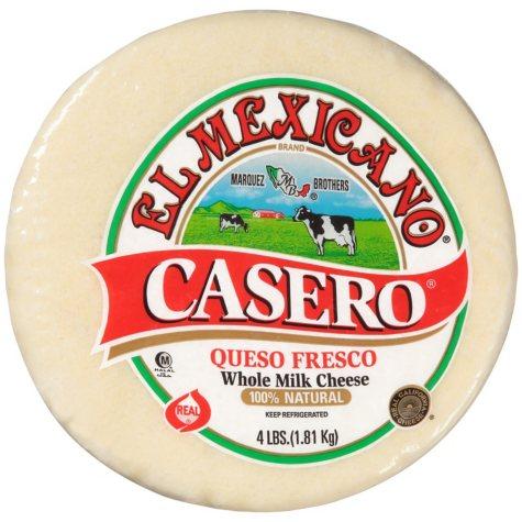 El Mexicano Casero Queso Fresco (4 lb.)