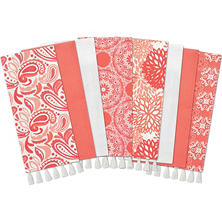 Gourmet Club Flat Woven Kitchen Towels, 8-pack (Assorted Colors)