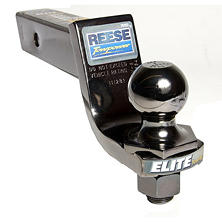 "Reese Towpower Elite Black Nickel Interlock 2"" Hitch Ball and Ball Mount Combination"