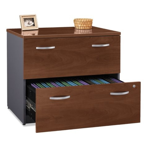 "Bush 36"" Series C 2-Drawer Lateral File Cabinet, Select Color"