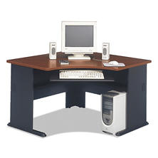 "Bush 48""W Corner Desk Series A, Hansen Cherry"