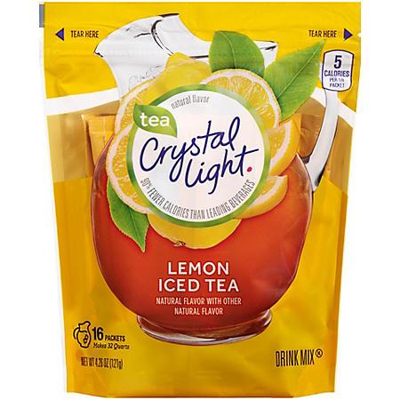 Crystal Light Iced Tea Natural Lemon Drink Mix (3.8 oz. Packets, 16 ct.)