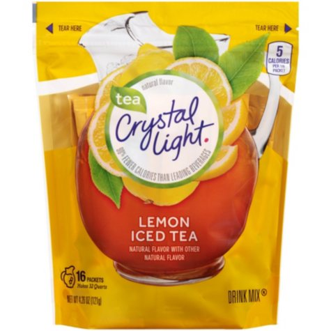 Crystal Light Iced Tea Natural Lemon Drink Mix - 3.8 oz.