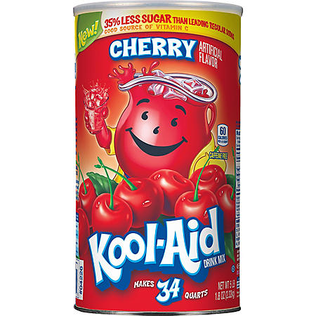 Kool-Aid Cherry Mix (makes 34 qts.)