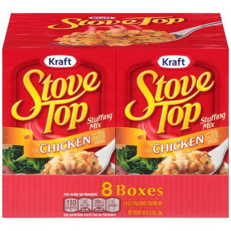 Kraft Chicken Stove Top Stuffing Mix (6 oz. box, 8 ct.)