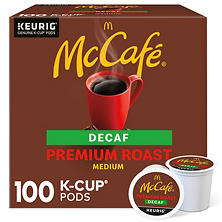McCafé Premium Roast Decaf Coffee Single Serve Pods (100 ct.)