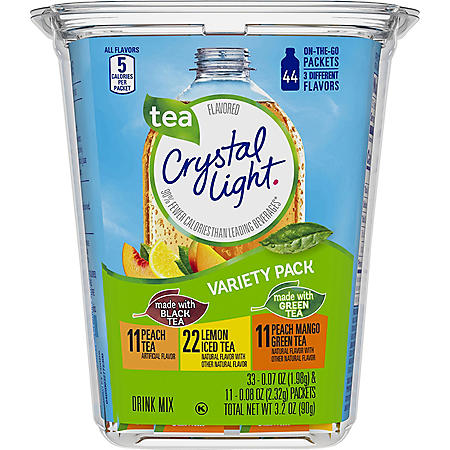 Crystal Light On-The-Go Tea, Variety Pack (44 ct.)