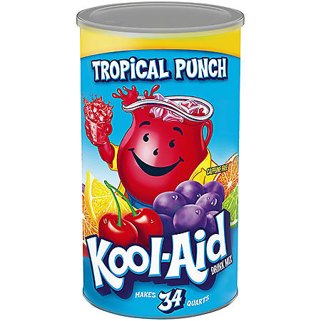 Kool-Aid Tropical Punch Juice Mix, 82.5 oz Cannister (makes 34 qts.)