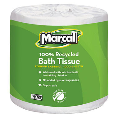 Marcal Recycled Bath Tissue - 40 Rolls