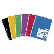 Mead Spiral Bound Notebook - Wide Rule 8 1/2 x 11 - 70 sheets/Pad