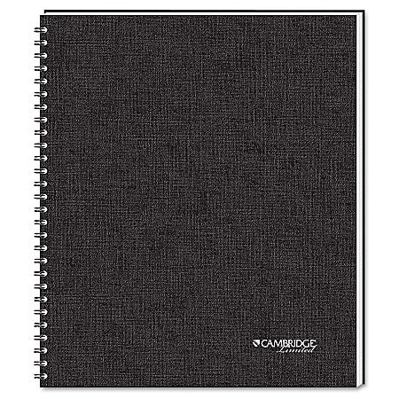 Mead Cambridge Wirebound Business Notebook, 8 1/2in x 11in, 80 Sheets